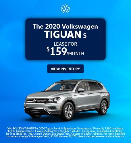 The 2020 Volkswagen Tiguan S