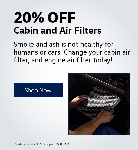 20% Off Cabin and Air Filters