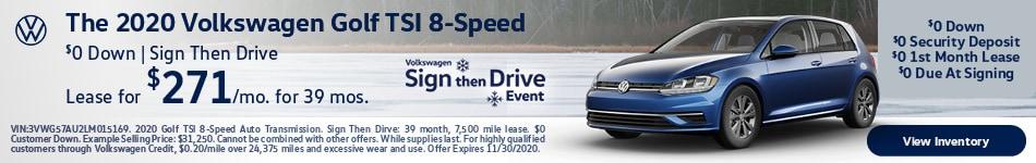 The 2020 Volkswagen Golf TSI 8-Speed
