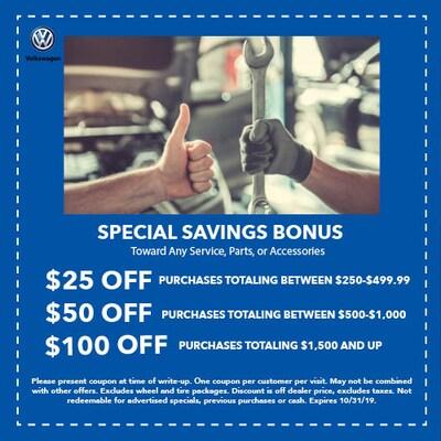 Special Savings Bonus