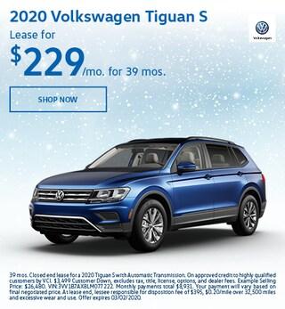 2020 Volkswagen Tiguan S Feb Offer