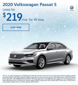 2020 Volkswagen Passat S Feb Offer