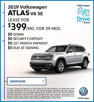 2019 Volkswagen Atlas V6 SE November Offer