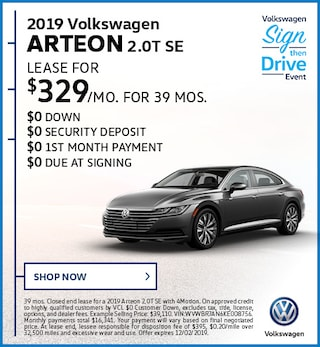 2019 Volkswagen Arteon 2.0T SE November Offer