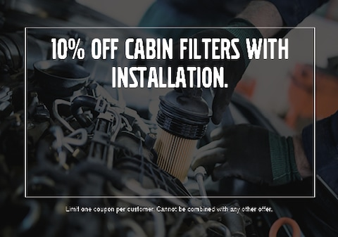10% Off Cabin Filters