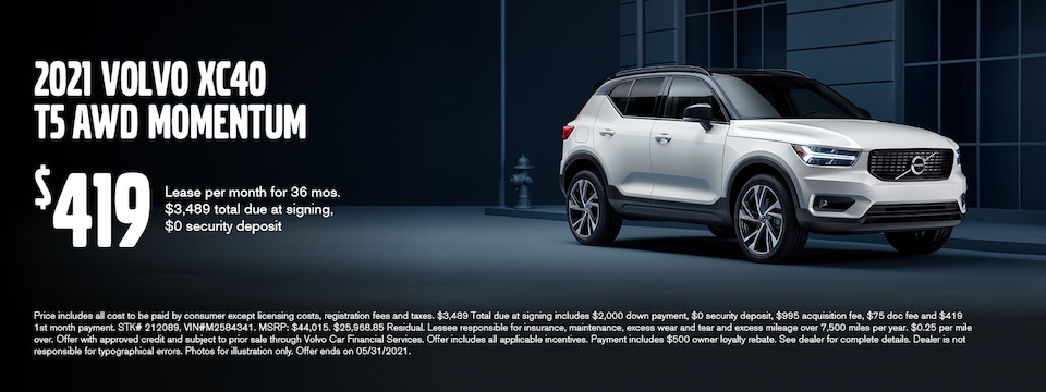 XC40 May Lease