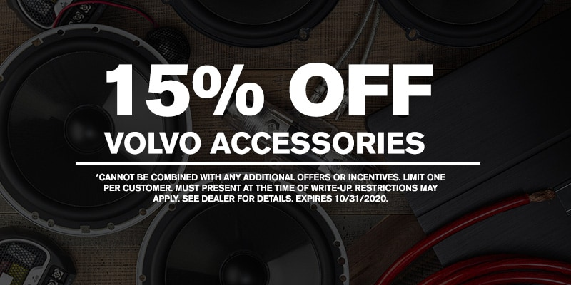 15% OFF of Volvo Accessories