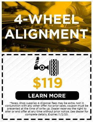 4-WHEEL ALIGNMENT - $119
