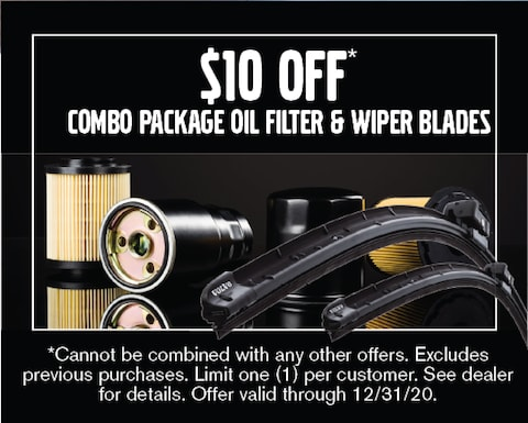 Oil Filter & Wiper Blades Combo Package