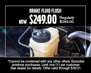 Brake Fluid Flush Special - April 2021
