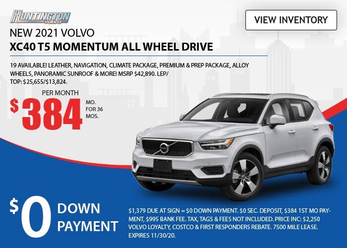 Volvo XC40 Deal - November 2020