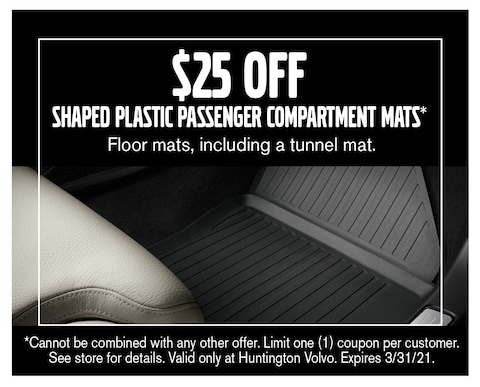 $25 Off Shaped Plastic Passenger Compartment Mats