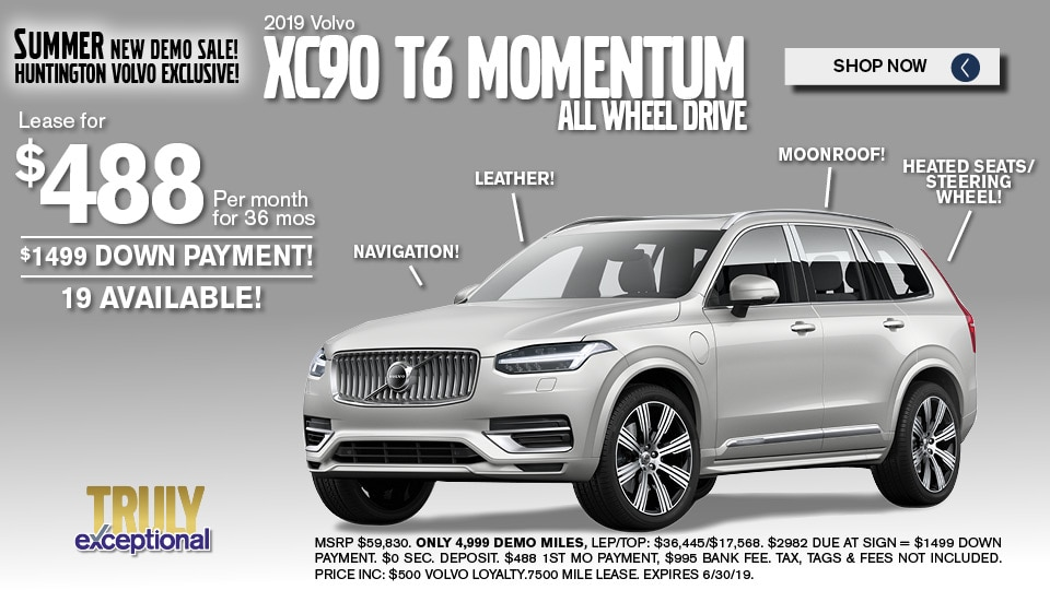 Volvo XC 90 Lease deals and Sale June 2019