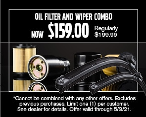 Oil Filter & Wiper Combo Special - April 2021
