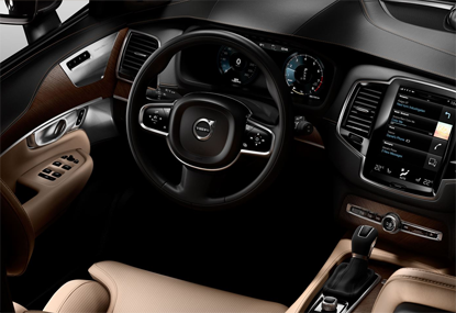 Volvo XC90 interior in Manhattan NY