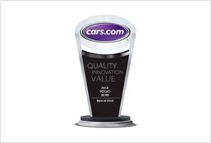 Volvo XC90 2016 Quality Award by Cars.com