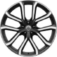 Volvo XC90 20 in Diamond Cut 5 Double Spoke Rim in Matte Black