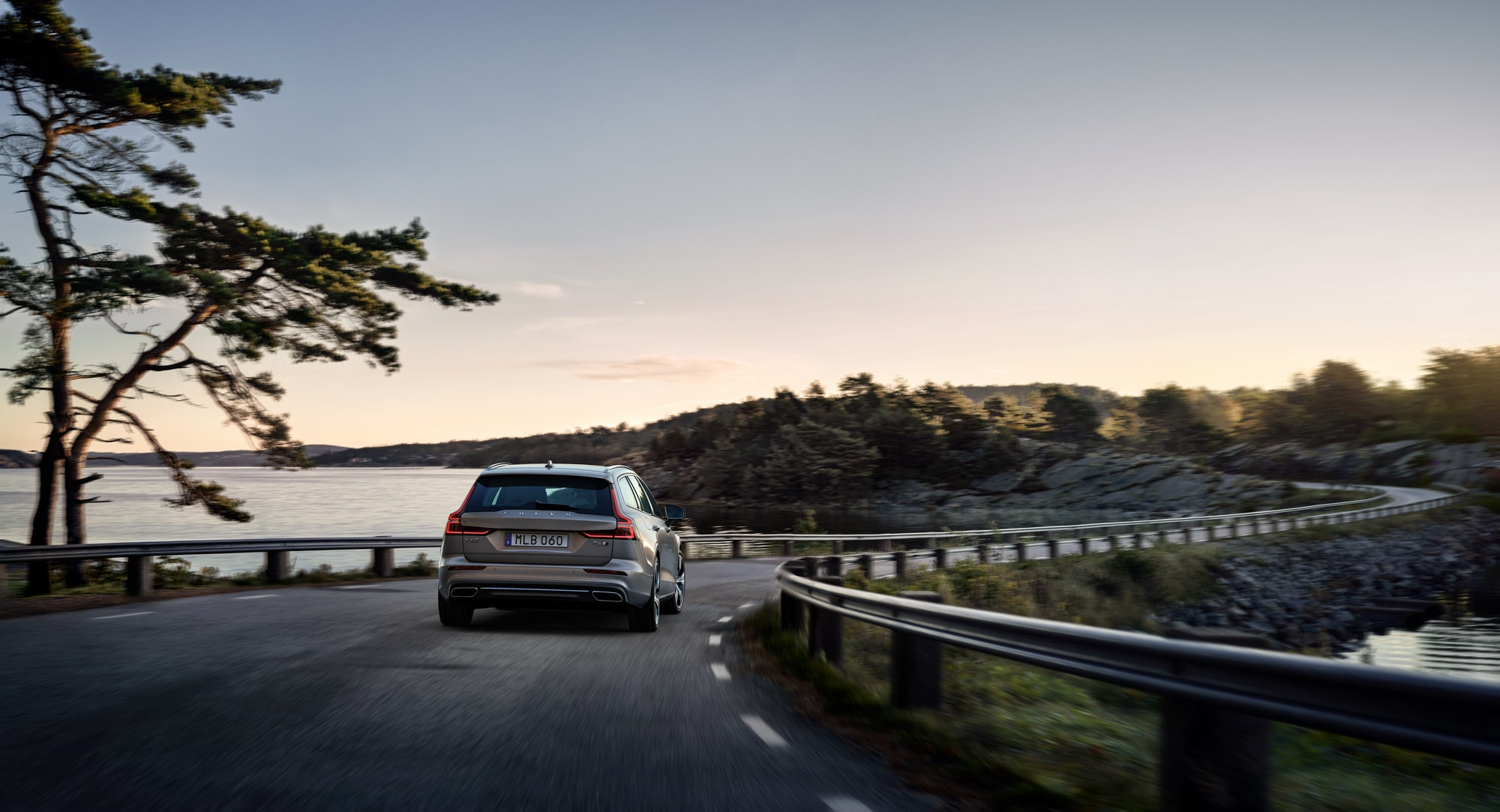 Where do I begin the process of trading in a vehicle at Volvo Cars New Bern | 2020 volvo v60 on the road