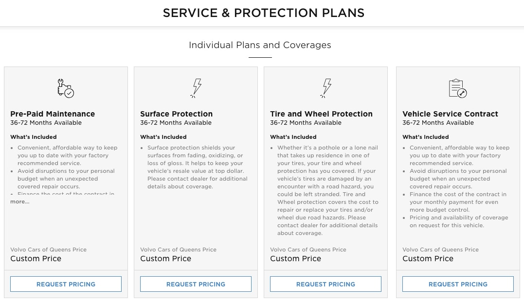 Choose Your Service and Protection Plans