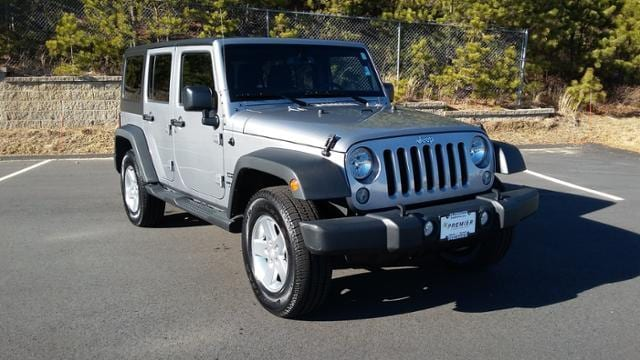 Featured Pre-Owned 2015 Jeep Wrangler Unlimited Sport 4x4 SUV for sale in Plymouth, MA