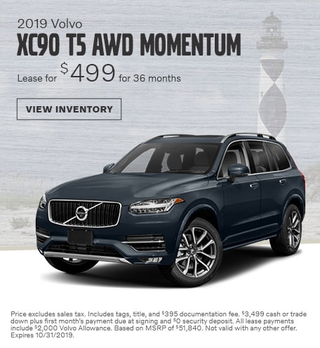 2019 Volvo XC90 T5 AWD Momentum - October