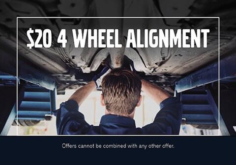 $20 4 Wheel Alignment