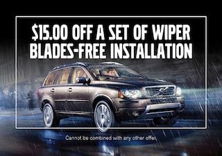 $15.00 Off Set of Wiper Blades - FREE Installation