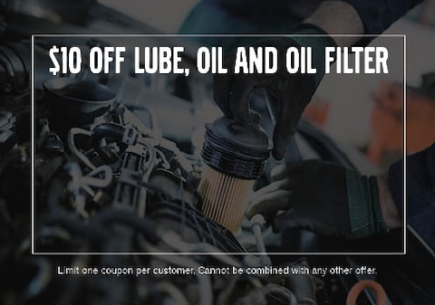 $10 OFF Lube, Oil and Oil Filter Service