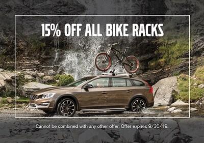 15% off all Bike Racks