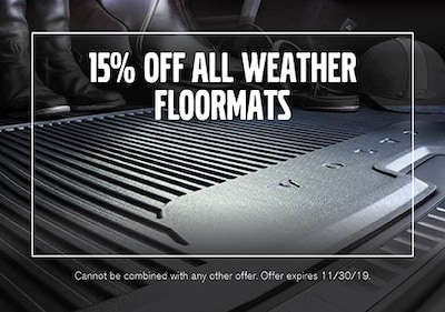 15% OFF All Weather Floormats