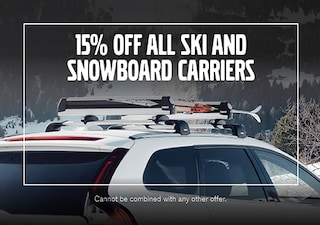 15% Off All Ski and Snowboard Carriers