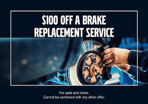 $100 Off Brake Replacement Service