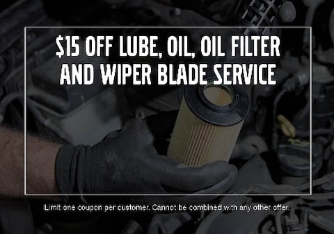 $15 OFF Lube, Oil, Oil Filter and Wiper Blade Service