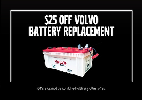 $25 Off Volvo Battery Replacement