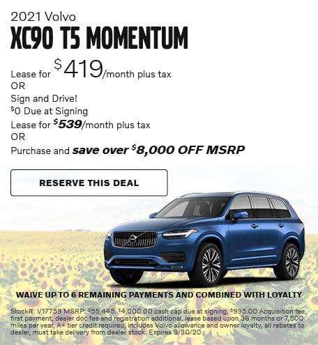 2021 Volvo XC90 T5 Momentum