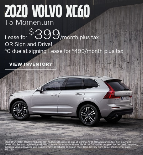 January 2020 Volvo XC60 T5 Momentum Lease