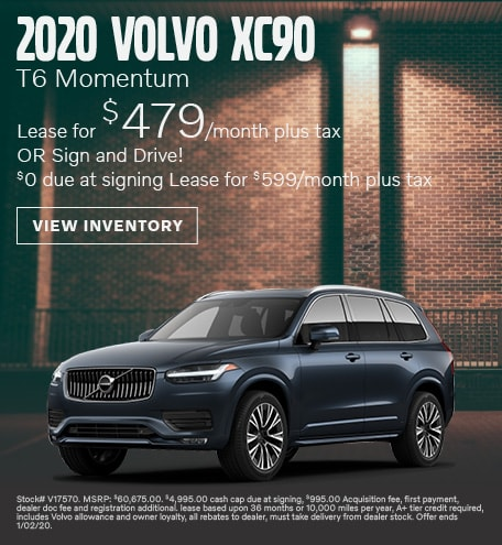 January 2020 Volvo XC90 T6 Momentum Lease