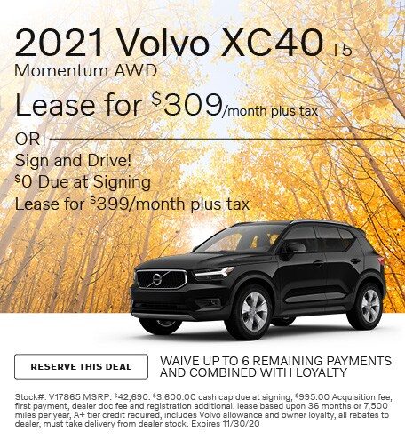 November 2021 Volvo XC40 T5 Momentum AWD