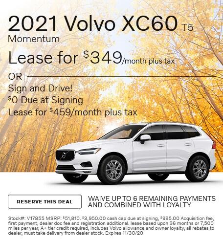 November 2021 Volvo XC60 T5 Momentum