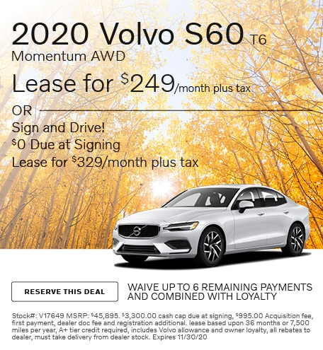 November 2020 Volvo S60 T6 Momentum AWD