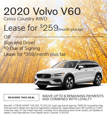 November 2020 Volvo V60 Cross Country AWD