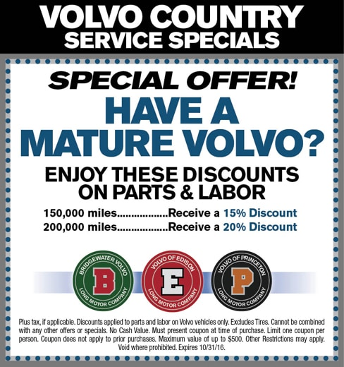 Volvo Country Service Specials