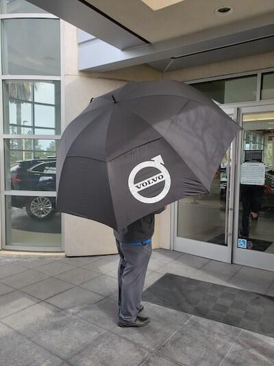 Volvo Valet Umbrella for 4 people!
