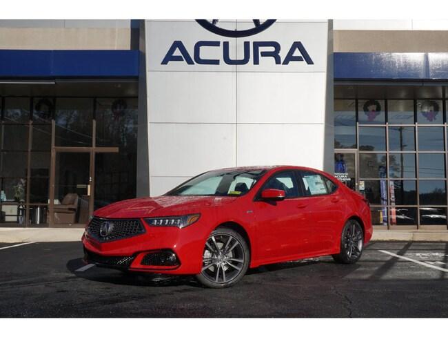 New 2019 Acura Tlx Sedan Sh Awd V6 W Tech W A Spec San Marino Red