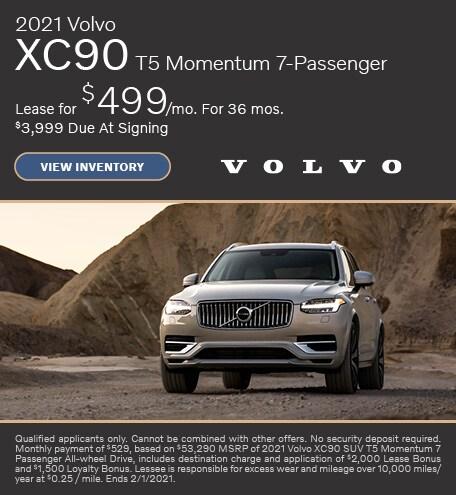 January 2021 Volvo XC90 T5 Momentum 7-Passenger Offer