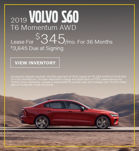 August 2019 S60 Lease Offer