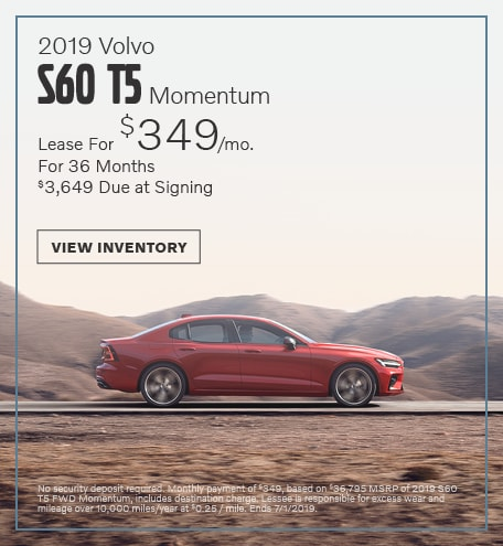 2019 Volvo S60  T5 Momentum - June