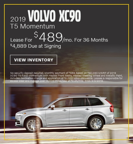 August 2019 XC90 Lease Offer
