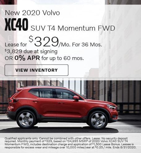 August New 2020 Volvo XC40 SUV T4 Momentum FWD Offers
