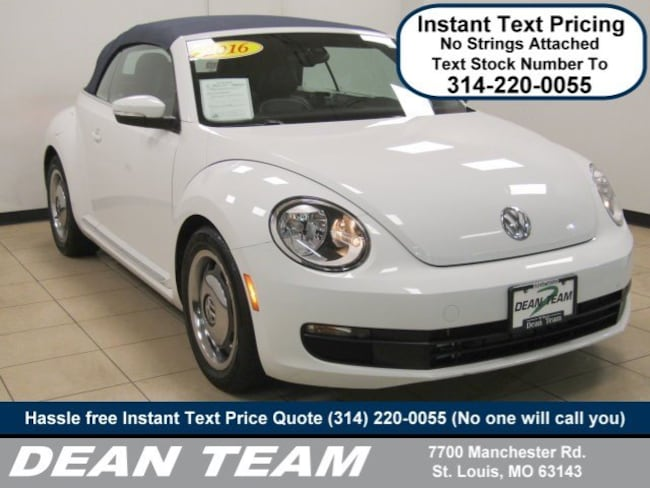 used 2016 volkswagen beetle convertible for sale in st. louis mo